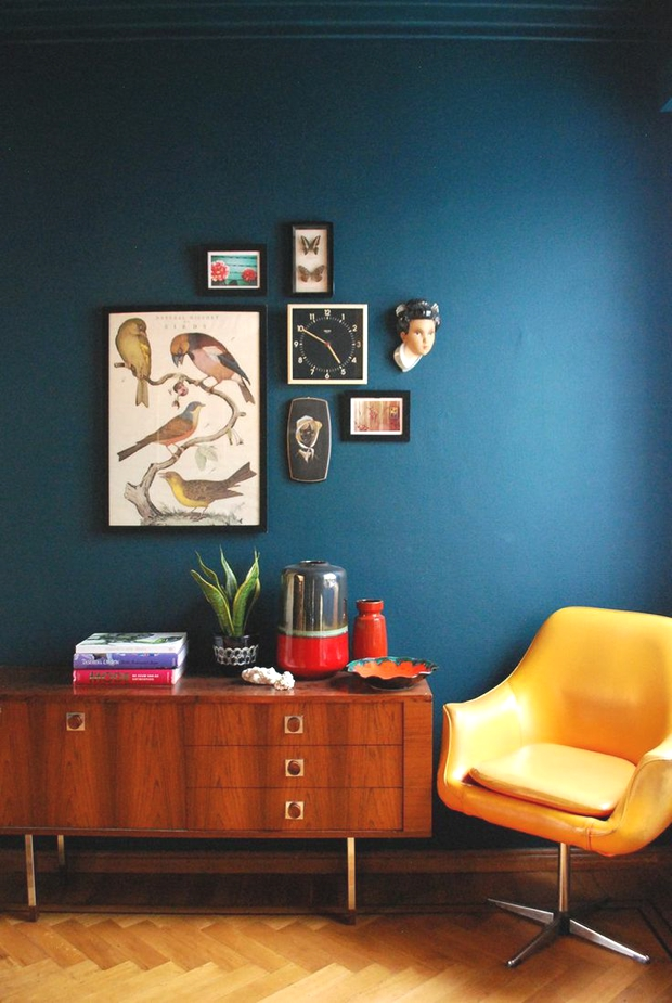Living Room Blue Wall Easy DIY Paint One