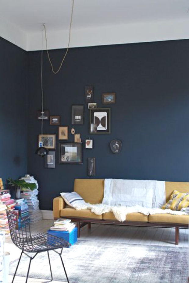 Accent Wall Painting One Blue