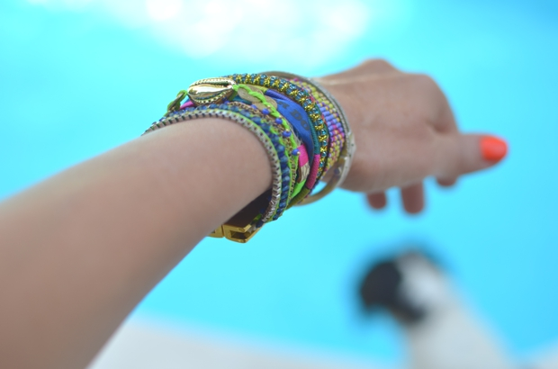 Hipanema bracelet blue gold