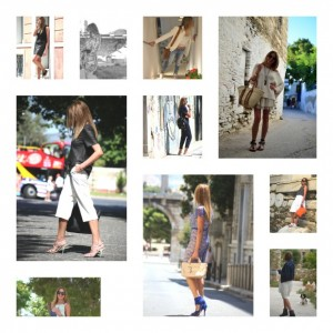 July outfits collage