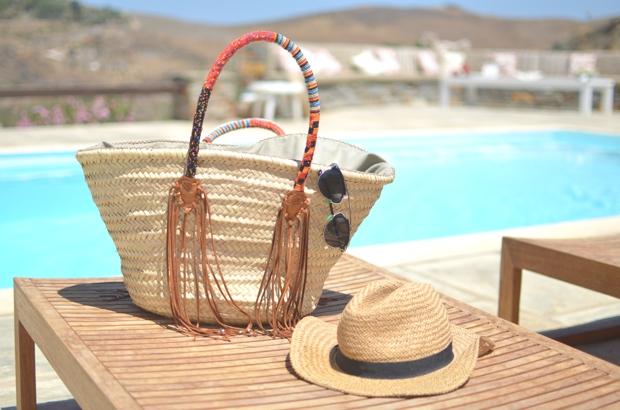 En Shalla straw bag Dior so real sunglasses
