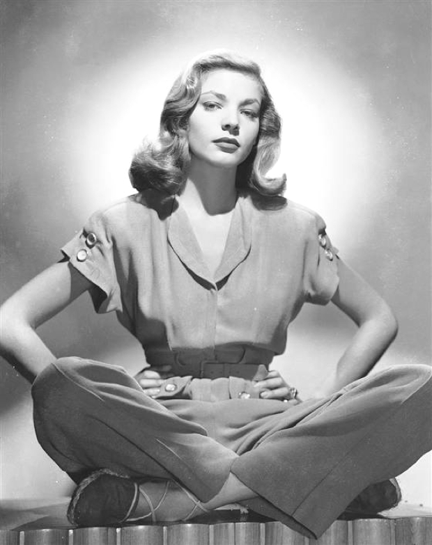 Lauren Bacall grey jumpsuit