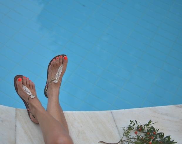 Sam Edelman sandals orange leopard