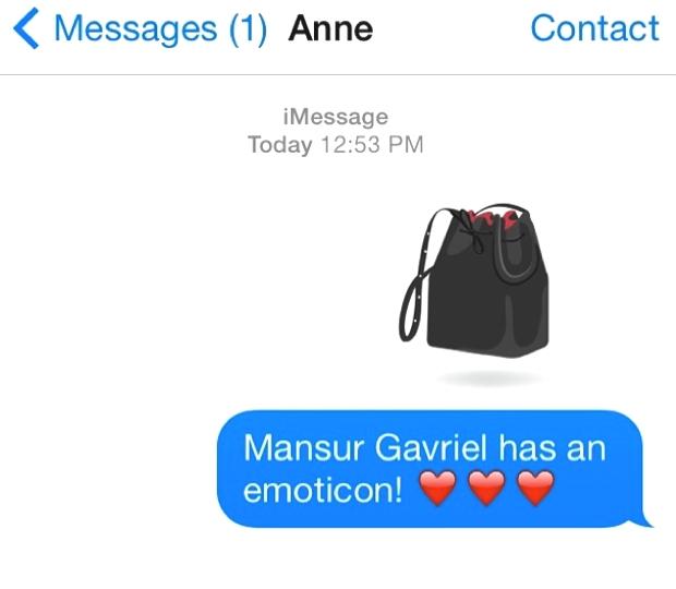Mansur Gavriel Flamma bucket bag emoticon