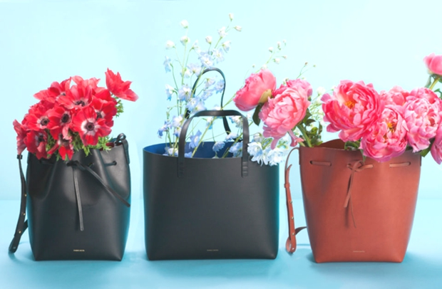 bucket totes MG bags and flowers