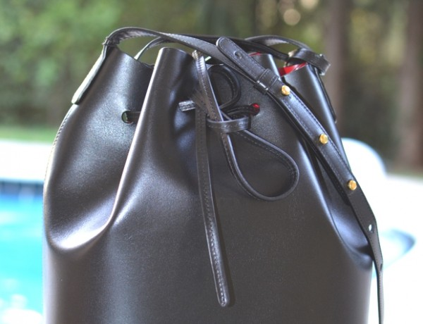 Mansur gavriel black flamma bucket bag