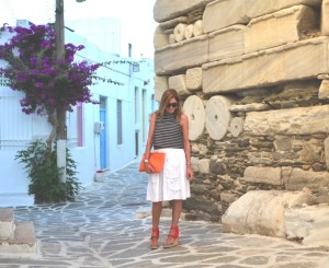 Nina Papaioannou Orange details