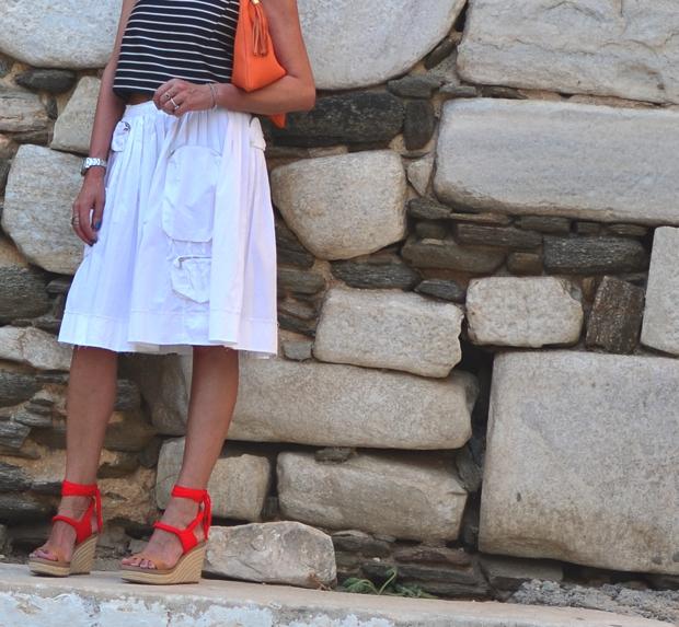 Prada skirt white