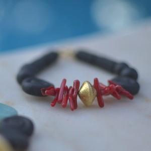 Rodios black ceramic bracelet