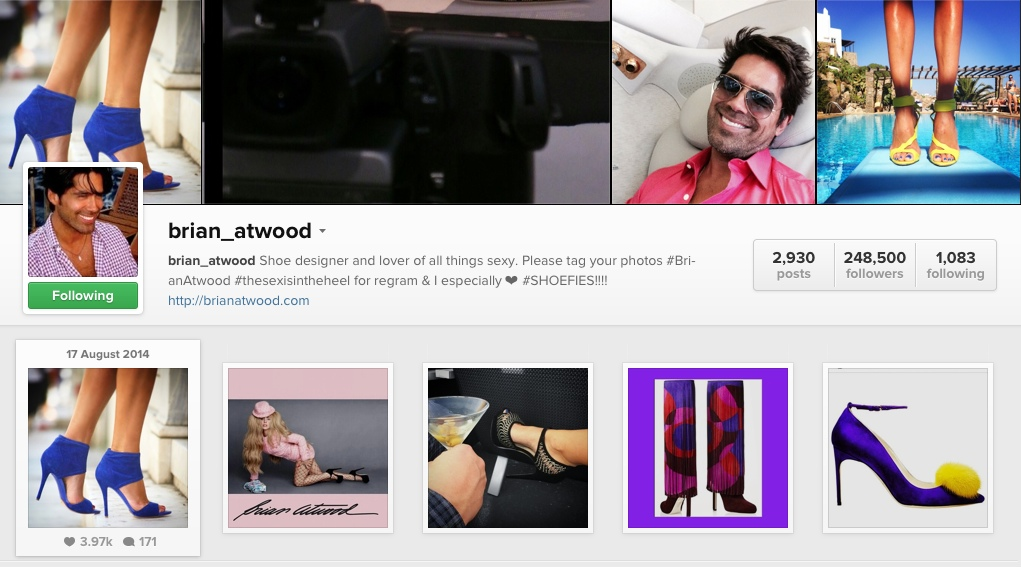 Trend Survivor was featured on Brian Atwood's Instagram
