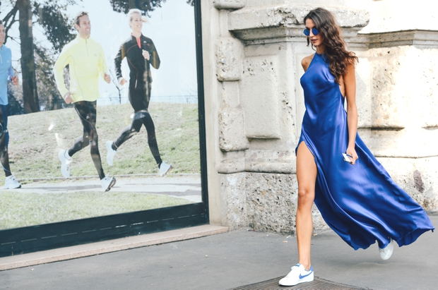 Sneakers maxi silk dress  Nike