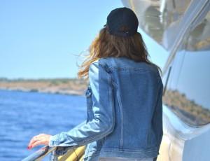Denim and summer jeans jacket Gucci cap