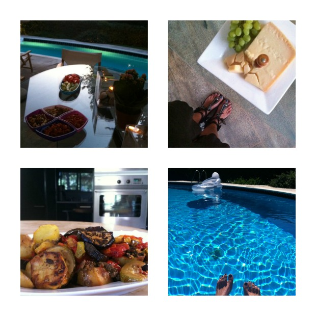 Instagram recap August, swimming pool, parmesan cheese