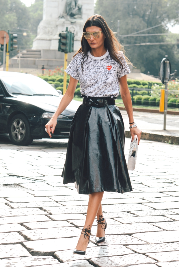 Giovanna Battaglia in a Commes des Garcons top