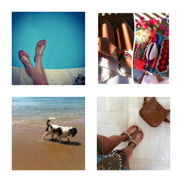Instagram recap August Sam Edelman sandals Hipanema bracelet