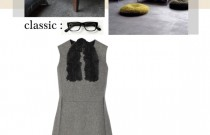 Gray Winter Dress Fall's Classic