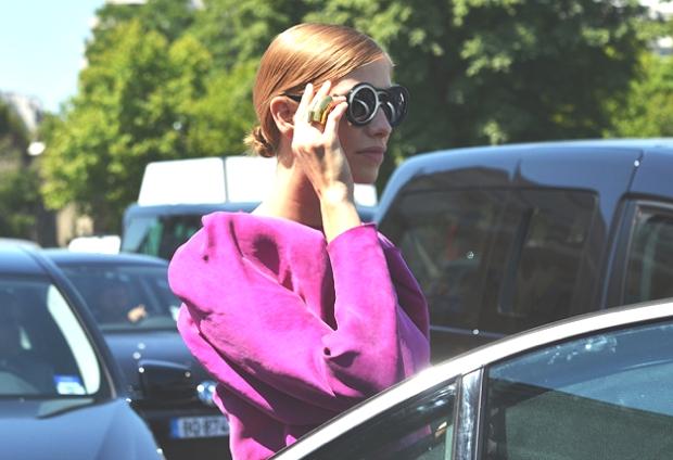 Elena operminova pink coat