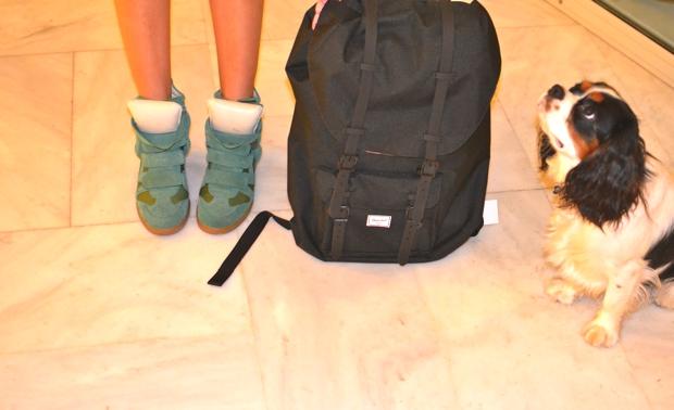 Niki Svolou Isabel Marant green sneakers