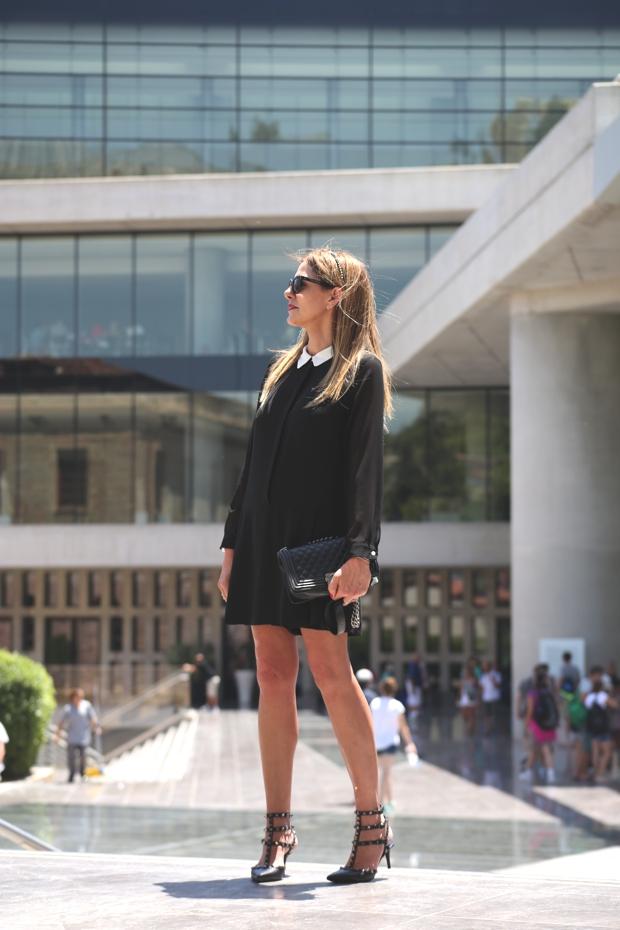 1960s Style Dresses Nina Papaioannou TrendSurvivor Acropolis Museum Valentino Rockstuds Celine glasses
