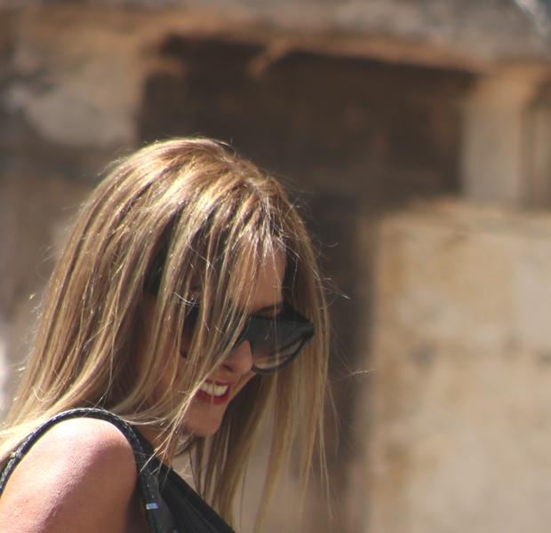 Gray color Nina Papaioannou Trendsurvivor  Celine skate d frame sunglasses