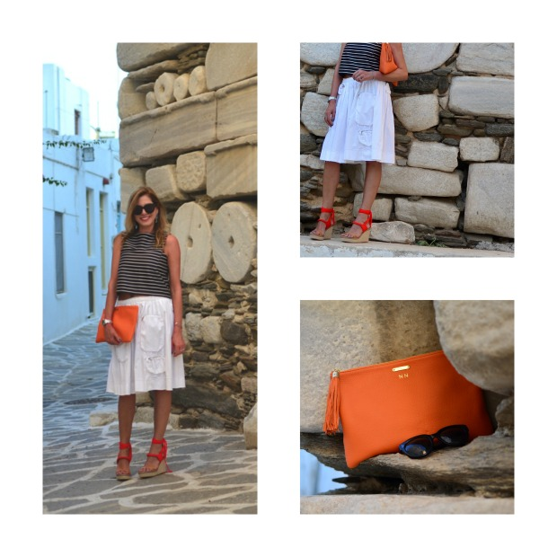 orange details Nina Papaioannou summer outfit