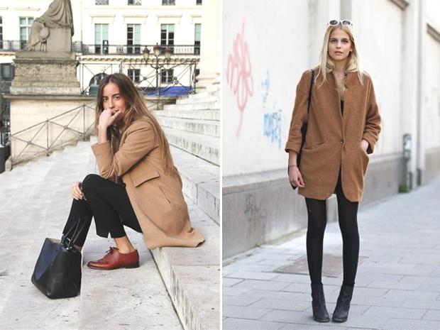 brogues and camel coat