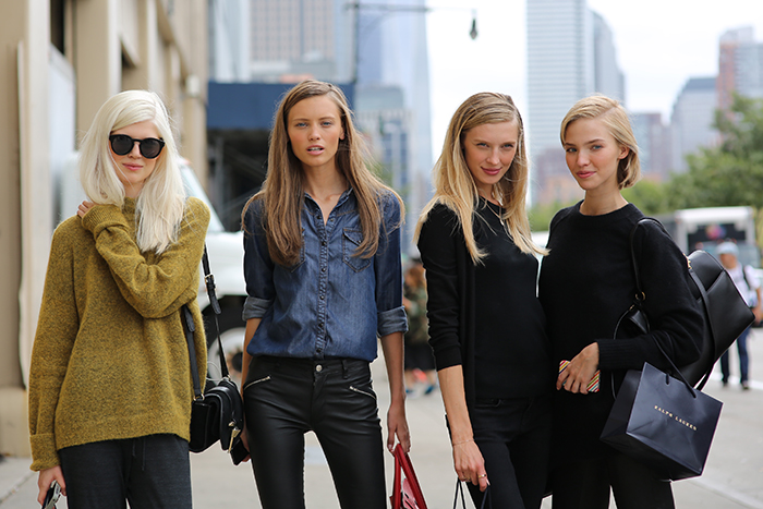 Best of new York fashion Week street style models