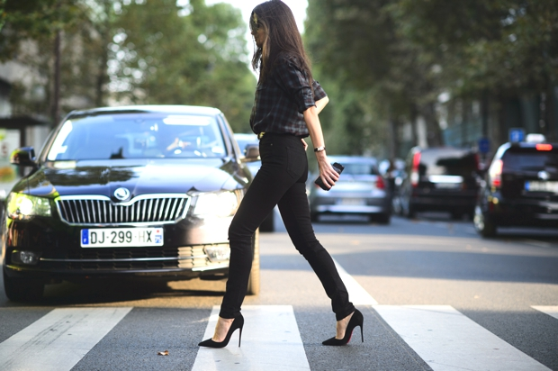 Black look Paris jeans and shirt