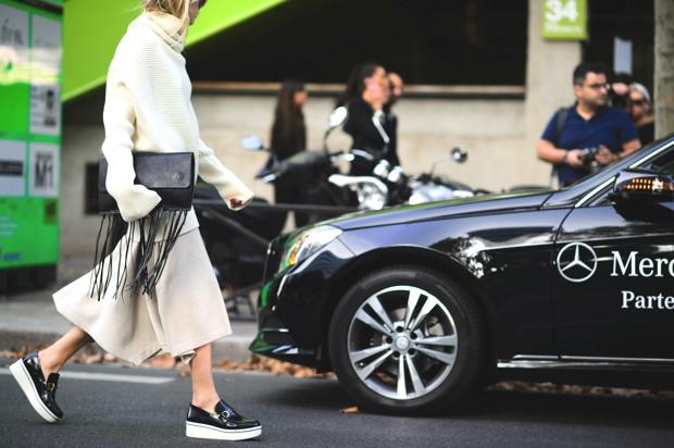 Paris Street Style SS 2015 white
