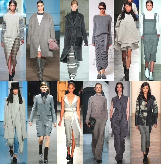 Fall Winter 2014-15 Fashion Shows gray trend