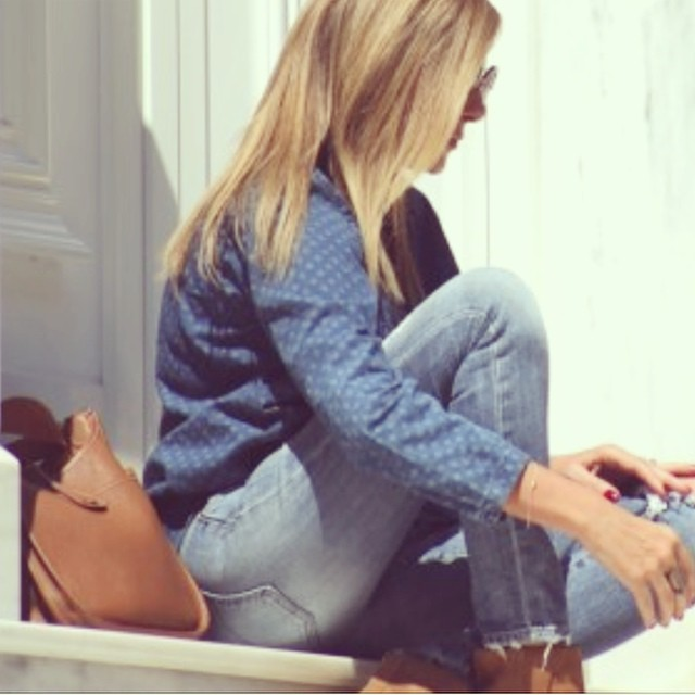 New season classics Double denim matched with tan  @liketoknow.it www.liketk.it/xHgq #liketkit