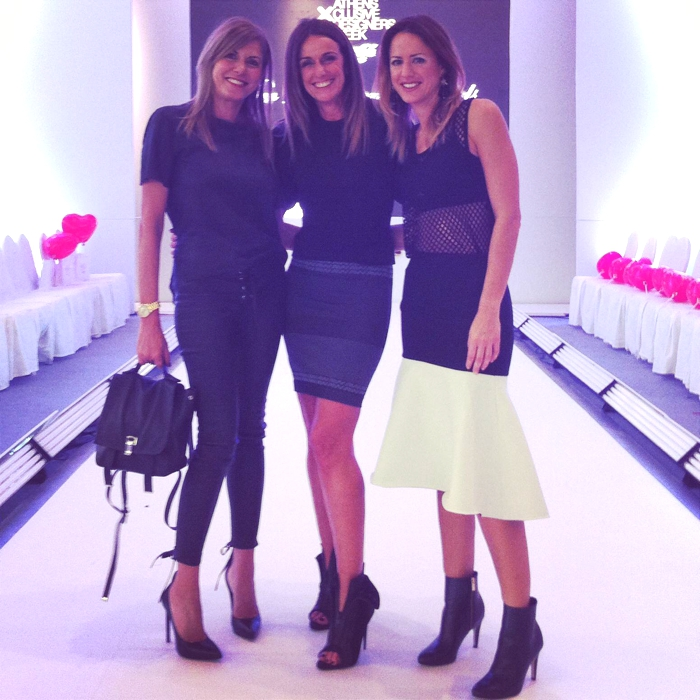 Athens xclusive Designers Week 2014 H and M managers Domique Fantaccino Mariza Petrakou and Trendsurvivor Nina Papaioannou