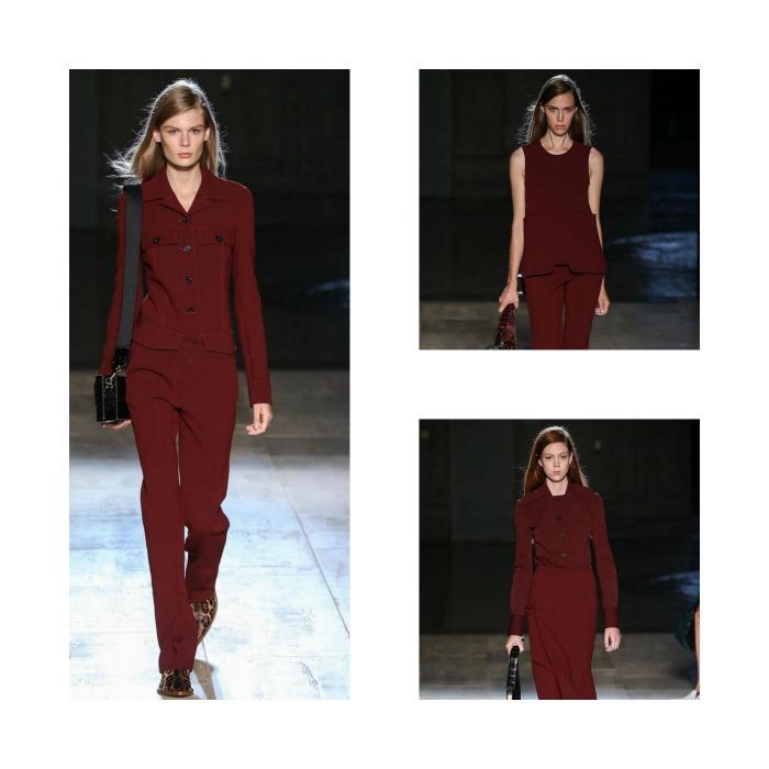 Burgundy shades Victoria Beckham 2015