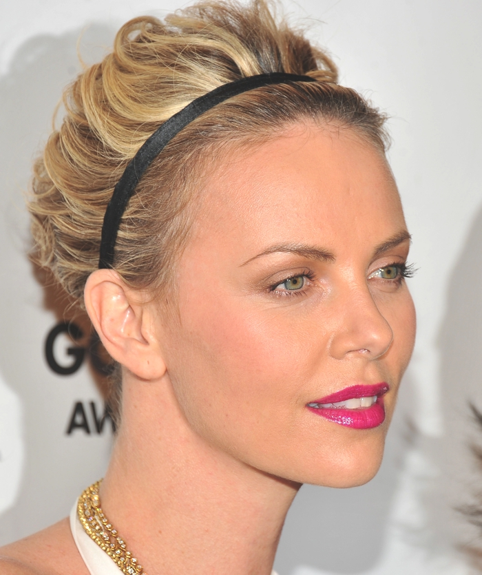 Charlize Theron  accessorized Updo