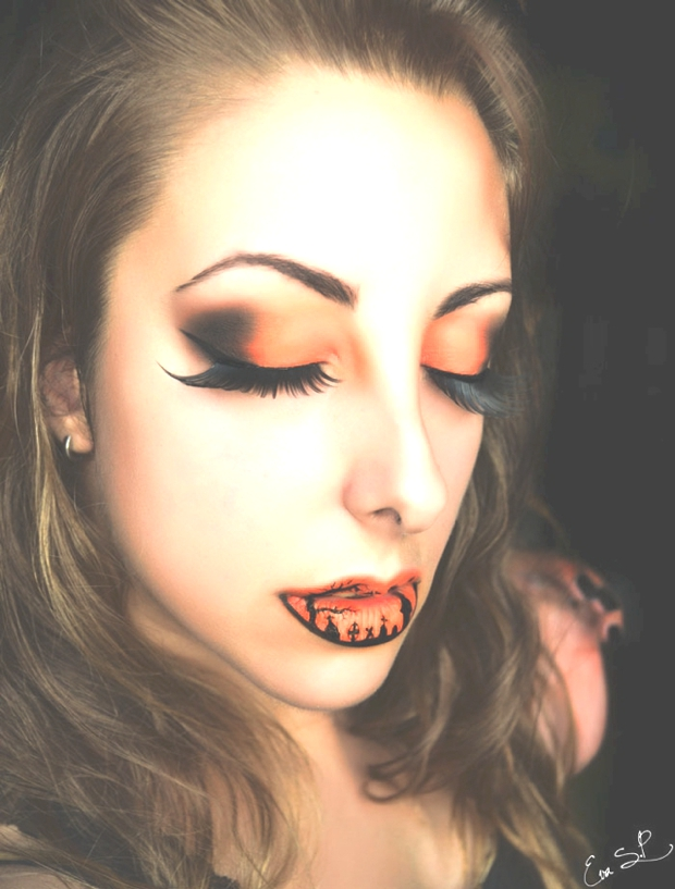 Creepy Halloween Makeup Lips | Eva Pernas00