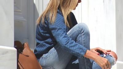 Double Denim Casual Street Style