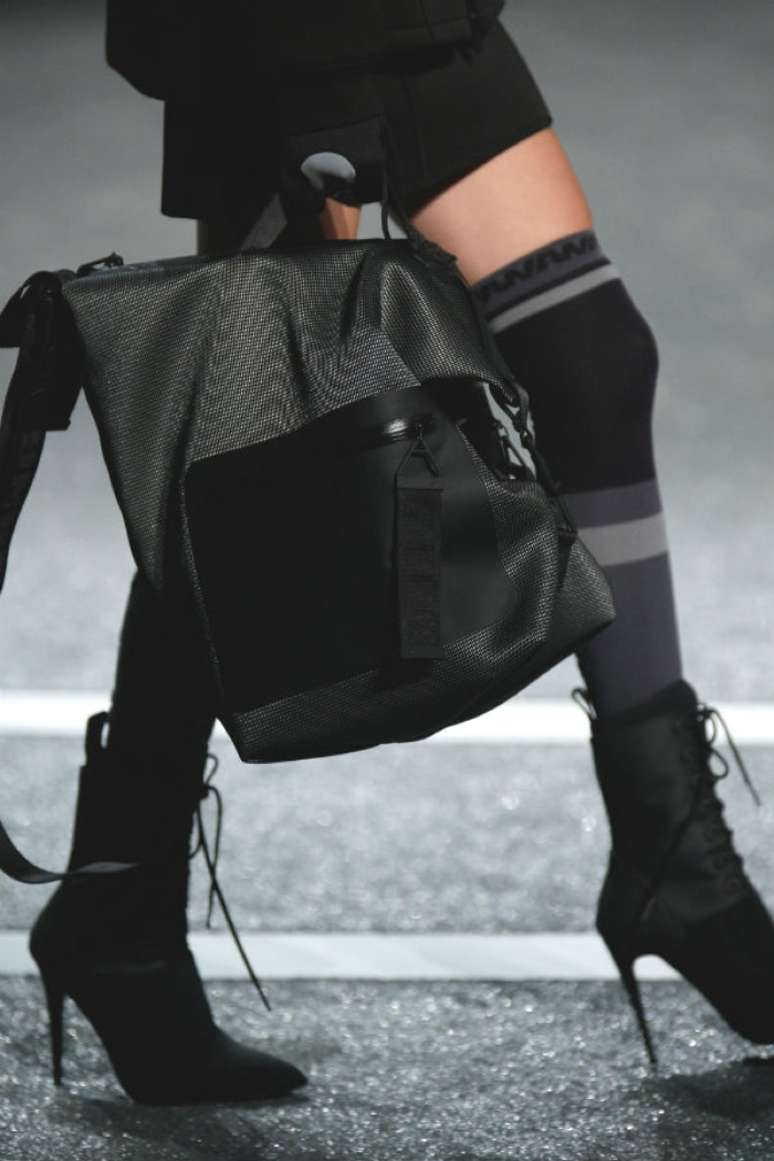 H and M X Alexander wang Runway booties bag
