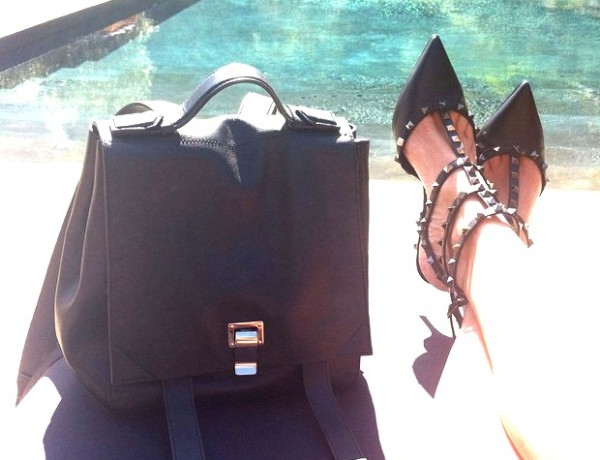 National Handbag day Proenza Schouler backpack and Valentino rockstuds