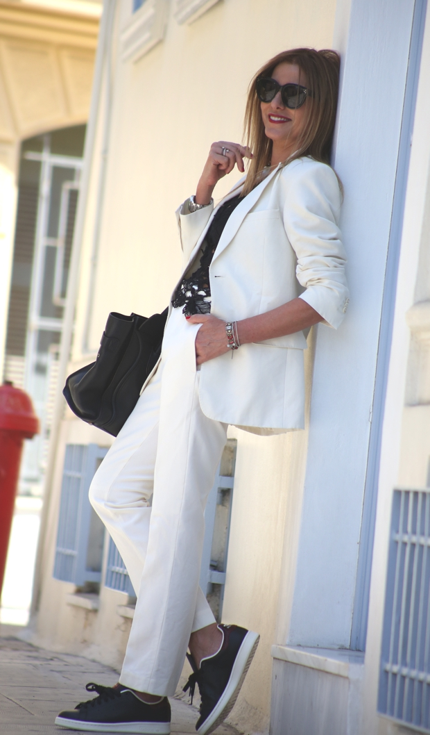 September Outfits 2014 Nina Papaioannou Trendsurvivor Androgynous The white suit
