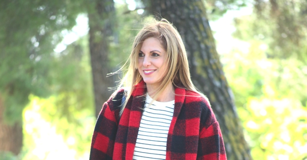 Street Style Casual Plaid Isabel Marant Jacket stripped top