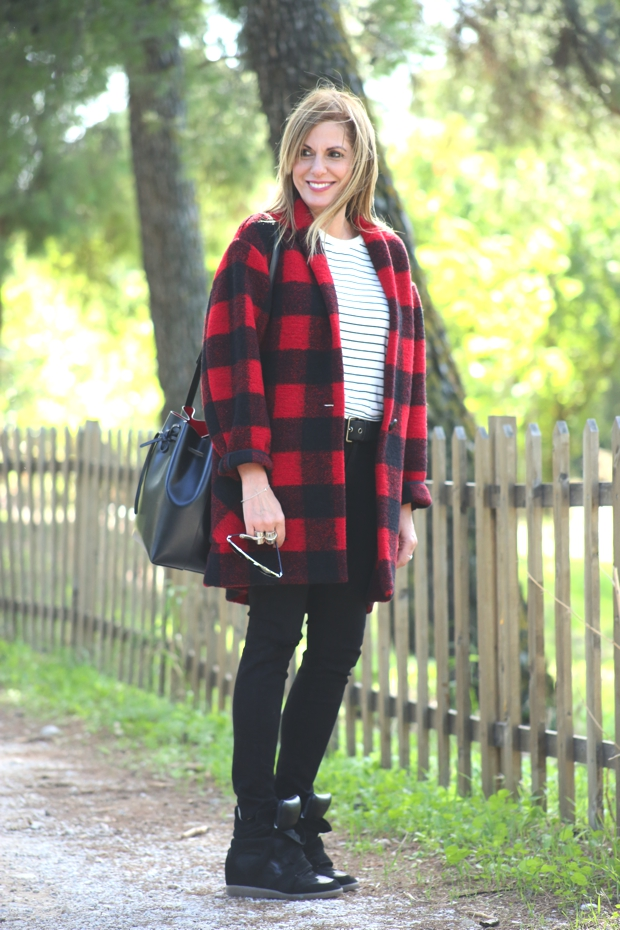 Street Style Casual Plaid Isabel Marant Jacket