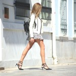 How to wear Black and White Frills Day to Night?
