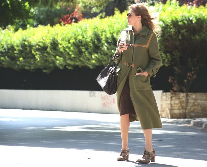 Hermes Duffle Coat Street Style 00