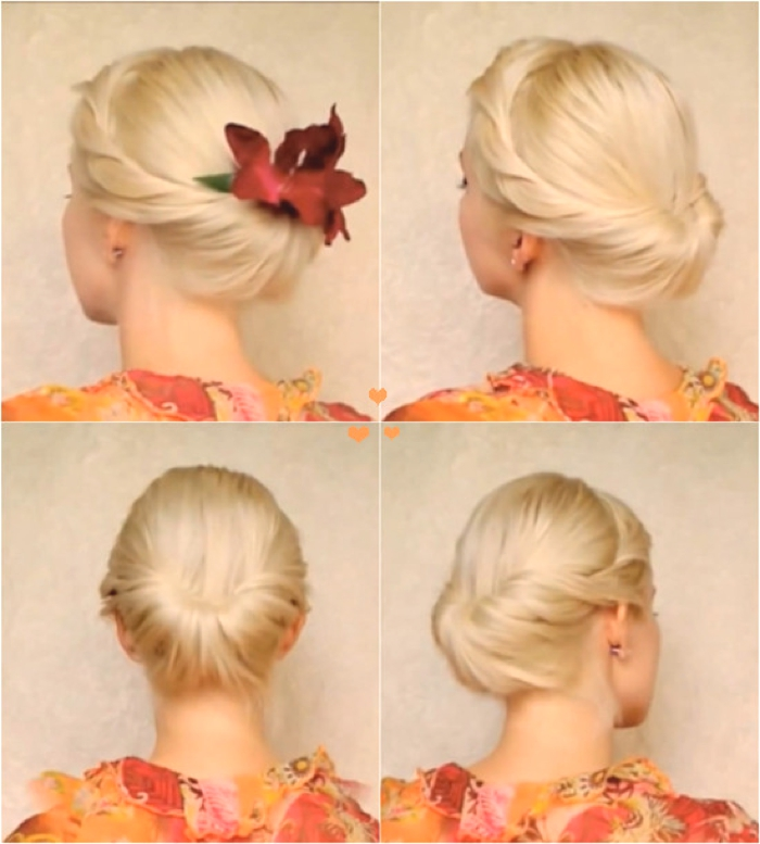 Last Minute Party Hairstyles Easy Tutorial 1