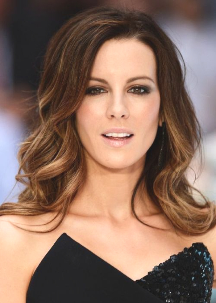 Kate Beckinsale Ombre Hair Color Idea: Subtle brunette ombre