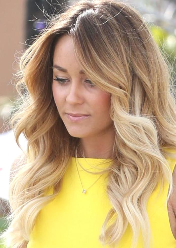 Lauren Conrad Ombre Hair Color Idea: Platinum blonde ombre