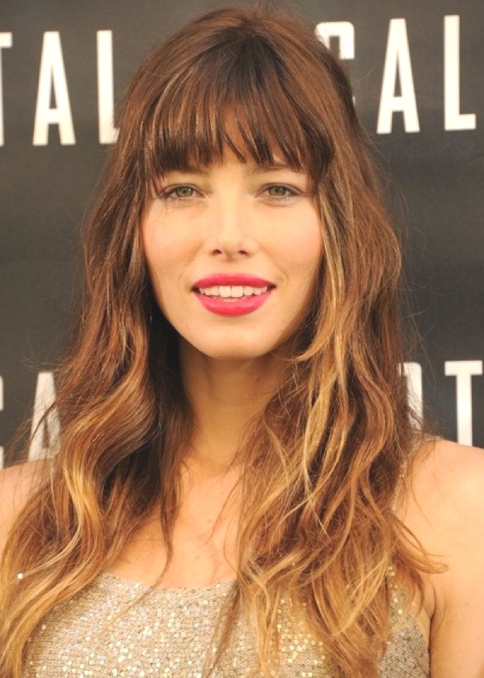 Jessica Biel Ombre Hair Color Idea: Hazel and gold ombre