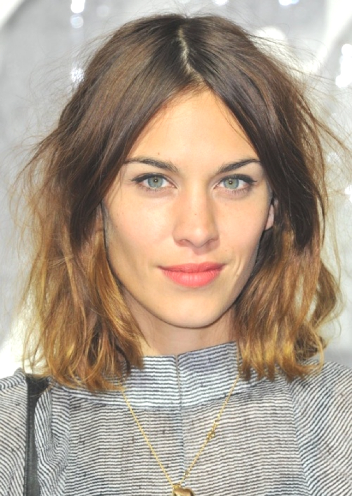 Fashion model and style icon Alexa Chung looks fantastic with her choppy, ombre bob.