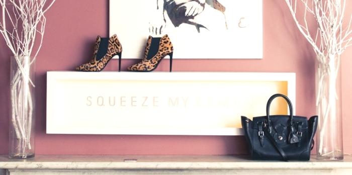 Ralph Lauren ankle leopard boots