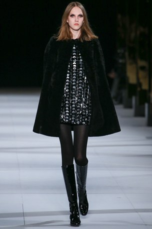 Saint Laurent Cape and dress AW 2014-15